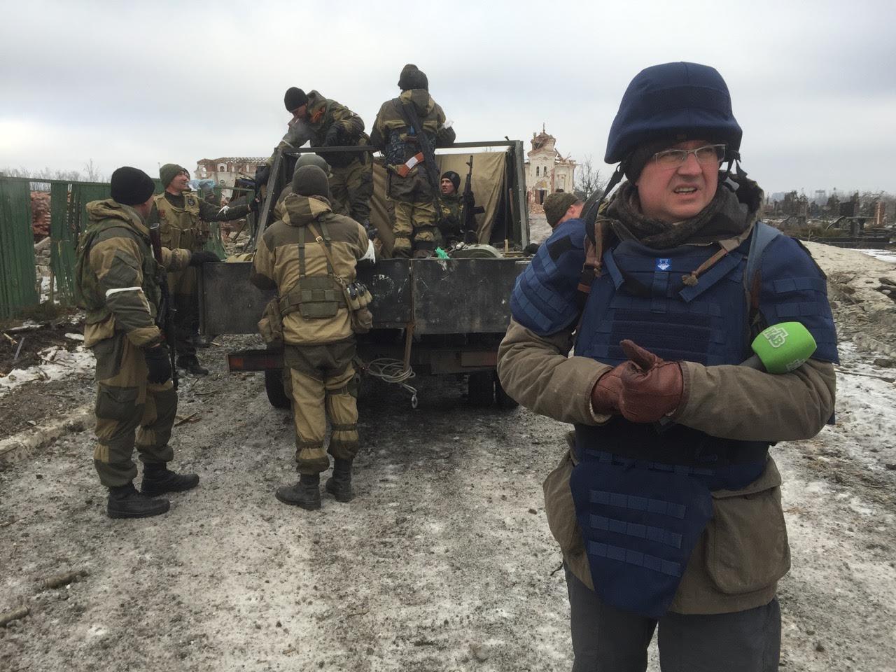 Аэропорт Донецка имени Прокофьева, зима 2014