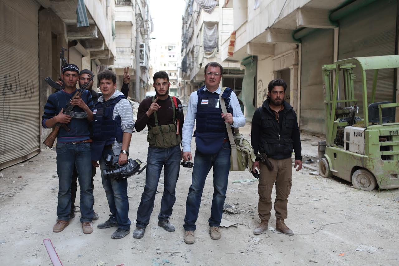 С боевиками сирийской оппозиции бригады 'Ансар Мохаммад', Алеппо, весна 2013 год